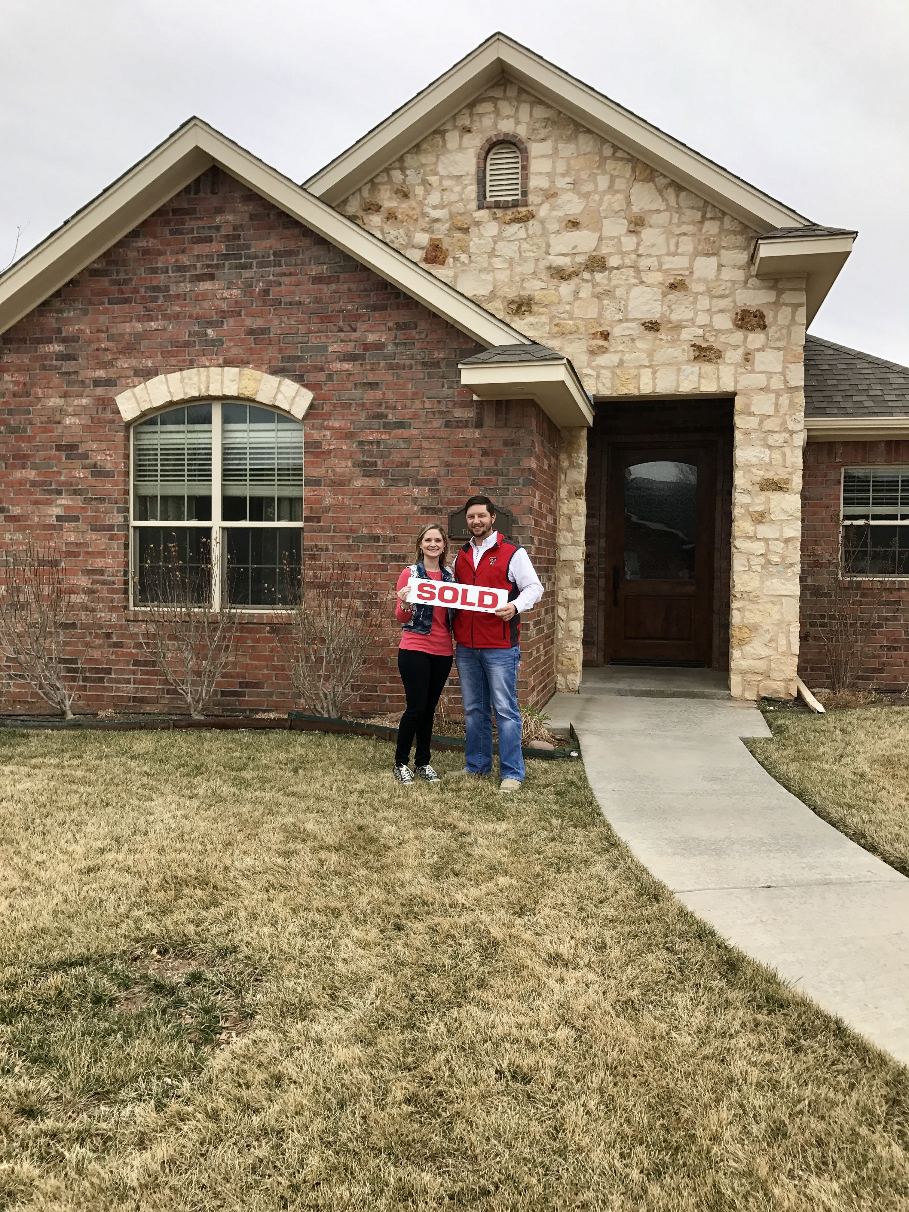 Landon's clients are excited to purchase their first home!